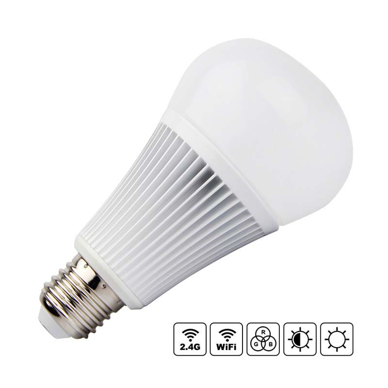 Bombilla LED WiFi E27 Bulb 9W RGB+CCT, RGB + Blanco dual, Regulable